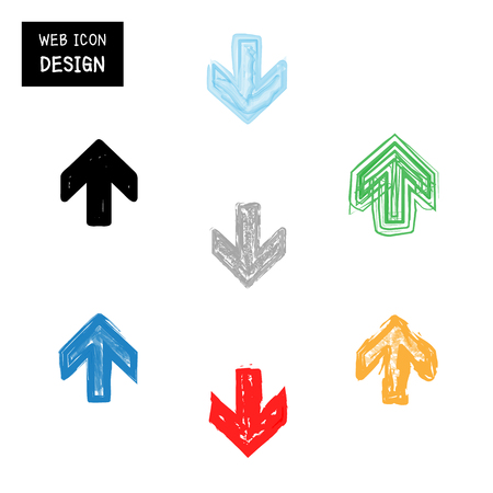 navigation pictogram: Vector arrow icon set. Illustration EPS10 great for any use. Illustration