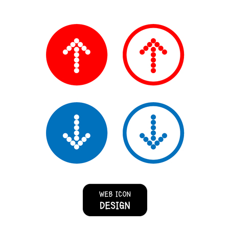 satin round: Vector arrow icon set. Illustration EPS10 great for any use. Illustration