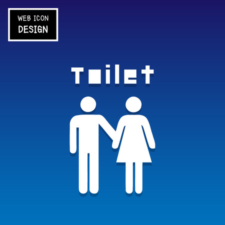 loo: Vector a man and a lady toilet sign, Illustration EPS10 Great For Any Use. Illustration