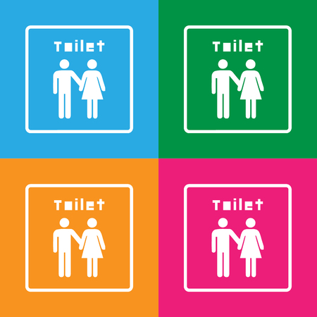 toilet sign: Vector a man and a lady toilet sign, Illustration EPS10 Great For Any Use. Illustration