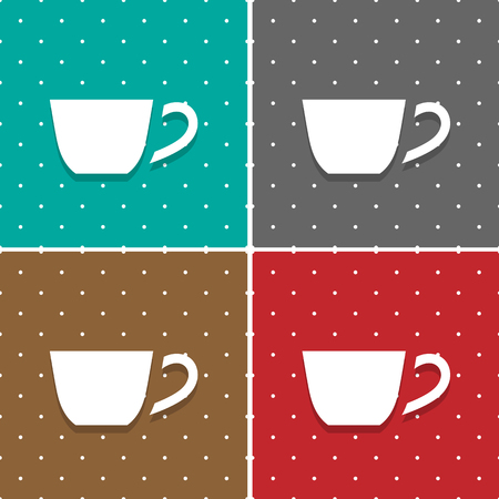 great coffee: Vector Coffee Cup Icon And Sign. Illustration EPS10 Great For Any Use.