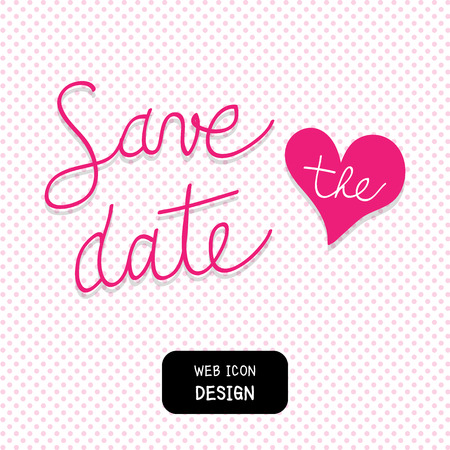 nuptial: Vector Save The Date Template, Illustration EPS10 Great For Any Use.