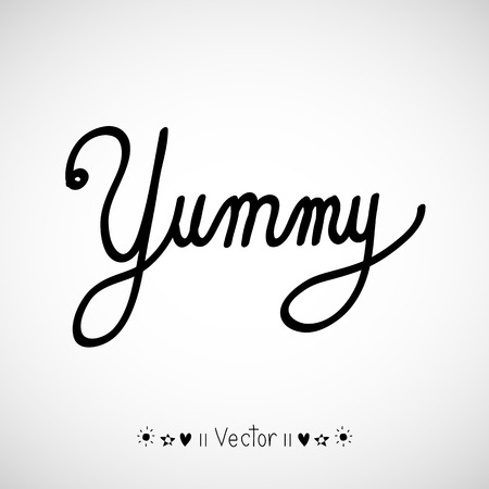 addictive: Yummy! doodle style vector design element, Illustration EPS10 great for any use. Illustration