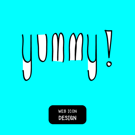 yummy: Yummy! doodle style vector design element, Illustration EPS10 great for any use. Illustration