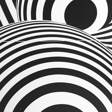 the seventies: Black and white seventies inspired psychedelic retro pattern great for any use. Stock Photo