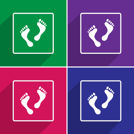 dirty feet: Vector Foot, Illustration EPS10 great for any use.