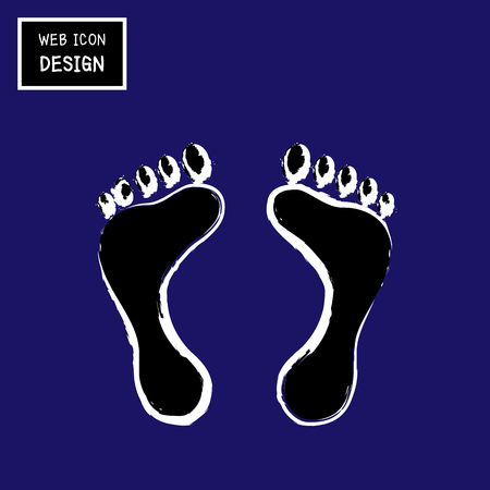 massage symbol: Vector Foot, Illustration EPS10 great for any use.