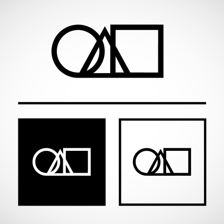 Interlocked Circle Triangle And Square Vector Illustration