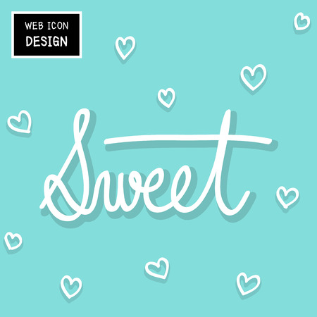 haert: Vector Hand Lettering Typography Poster.Calligraphic Sweet, Illustration EPS10 great for any use. Illustration