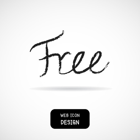 free sign: Vector of free tag, free sign, free label. Illustration EPS10 great for any use. Illustration