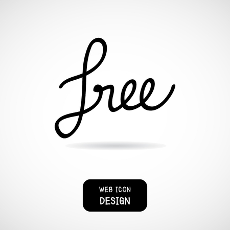textured paper: Vector of free tag, free sign, free label. Illustration EPS10 great for any use. Illustration
