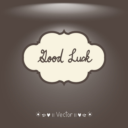 luckiness: Vector Good luck. Hand lettering.
