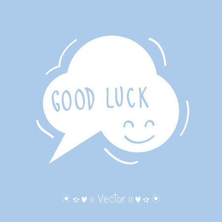 good luck charm: Vector Good luck. Hand lettering. Illustration EPS10 great for any use.