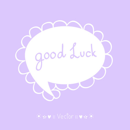 luckiness: Vector Good luck. Hand lettering. Illustration EPS10 great for any use.