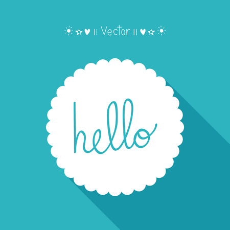 blue bubbles: Vector Hello. Lettering. Calligraphy Great For Any Use.