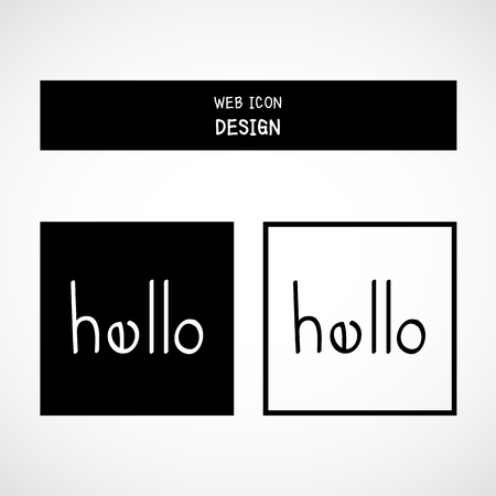 t square: Vector Hello. Lettering. Calligraphy Great For Any Use.