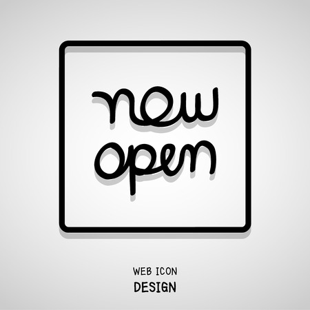 advertised: Vector Hand Lettering Typography Now Open . Illustration EPS10 great for any use.