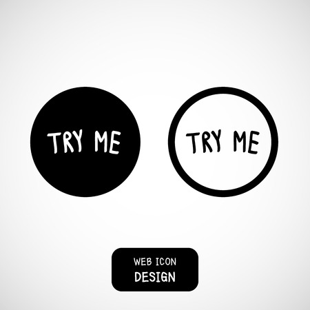 try: Vector Try Me, rough typography for poster. Illustration EPS10 great for any use.