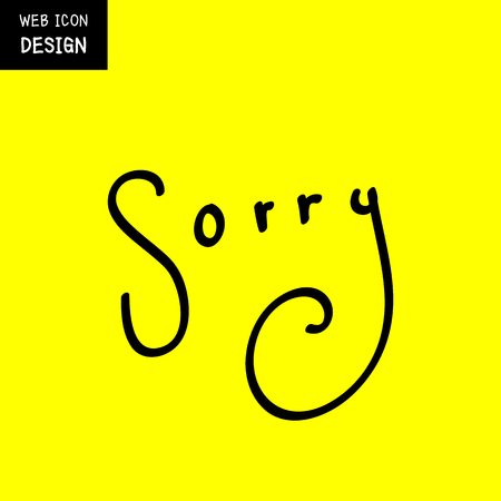compassionate: Vector Sorry sign or symbol. Illustration EPS10 great for any use.