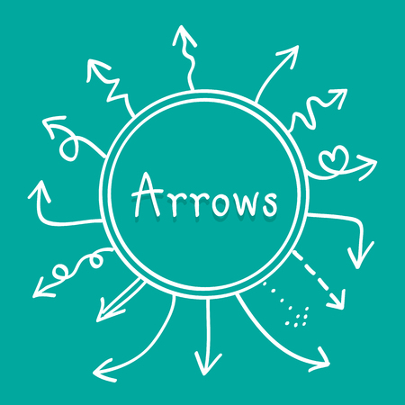 sideways: Sketch arrows vector set, Illustration EPS10 great for any use.