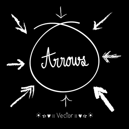 arrows vector: Sketch arrows vector set, Illustration EPS10 great for any use.