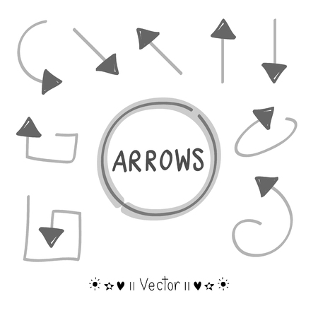 upward movements: Sketch arrows vector set, Illustration EPS10 great for any use.