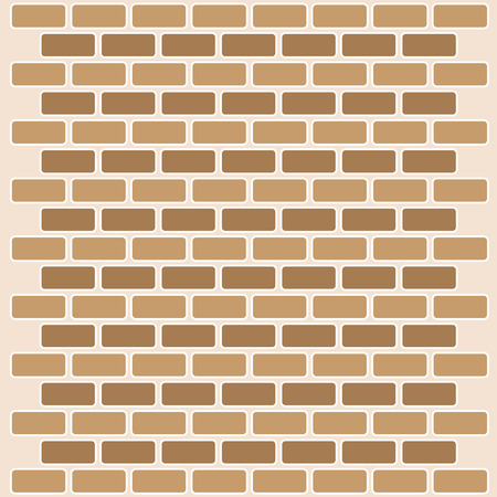 building block: Brick wall seamless Vector illustration background - texture pattern for continuous replicate great for any use. Illustration