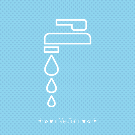 economize: Vector Faucet sign or icon. Illustration EPS10 great for any use. Illustration