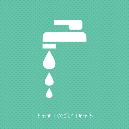 Vector Faucet sign or icon. Illustration EPS10 great for any use. Illustration