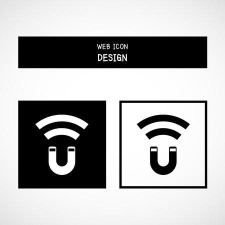 magnetismo: Vettore di cavallo magnete, il magnetismo, magnetizzare, attrazione. Illustrazione EPS10 grande per qualsiasi uso.
