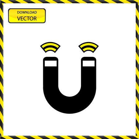 magnetismo: Vector de herradura del im�n, el magnetismo, magnetizar, atracci�n. Ilustraci�n de EPS10 grande para cualquier uso.