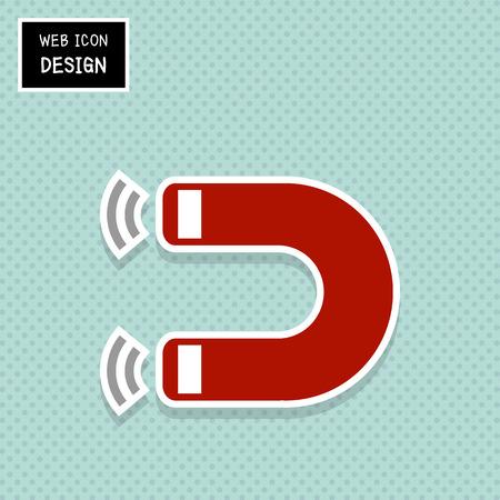 magnetismo: Vector de herradura del imán, el magnetismo, magnetizar, atracción. Ilustración de EPS10 grande para cualquier uso.