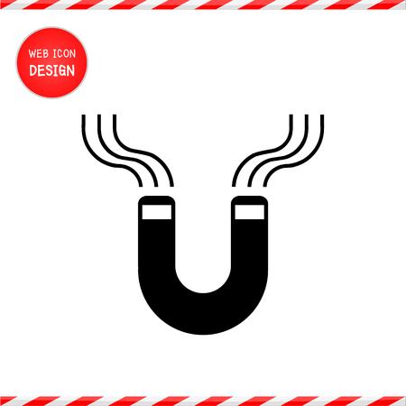 permanent wave: horseshoe magnet, magnetism, magnetize, attraction. Illustration great for any use. Illustration