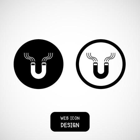 magnetismo: magnete a ferro di cavallo, il magnetismo, magnetizzare, attrazione. Illustrazione ideale per qualsiasi uso. Vettoriali
