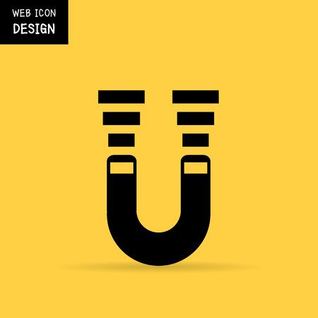 magnetismo: im�n de herradura, el magnetismo, magnetizar, atracci�n. Ilustraci�n grande para cualquier uso. Vectores