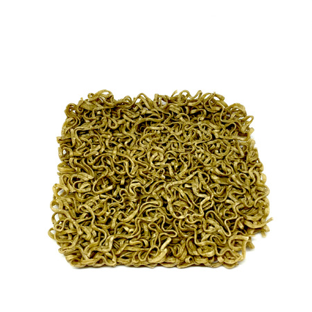 the instant noodles: Instant noodles or green noodles, isolated on white background great for any use.