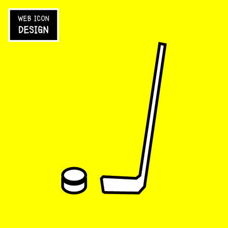 the end of the world: Vector Crossed Hockey Sticks and Puck Icon. Illustration EPS10 Great For Any Use.