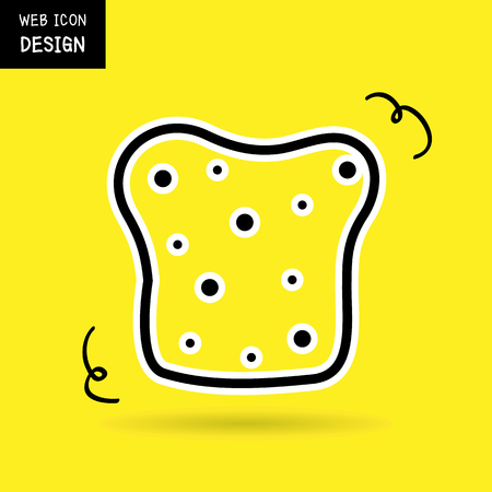 crusty french bread: Vector Sliced Bread Icon. Illustration Great For Any Use. Illustration