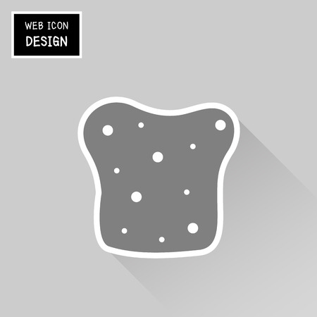 french toast: Vector Sliced Bread Icon. Illustration Great For Any Use. Illustration