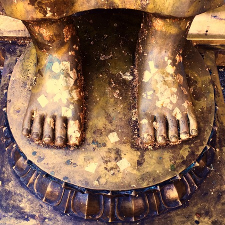 nakhon pathom: Gold Foot Of Buddha Statue in Nakhon Pathom Great For Any Use.