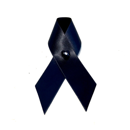 ruban noir: Black Ribbon, Black Ribbon for Mourning On White Background Great For Any Use. Banque d'images