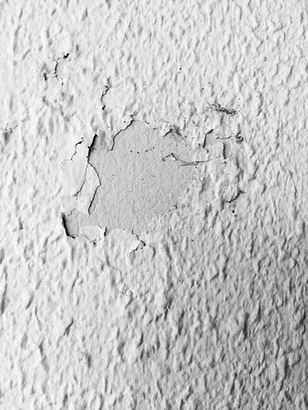Broken Wall, Old Cracked Concrete or Cement Wall Close Up Background Great For Any Use. Stock Photo