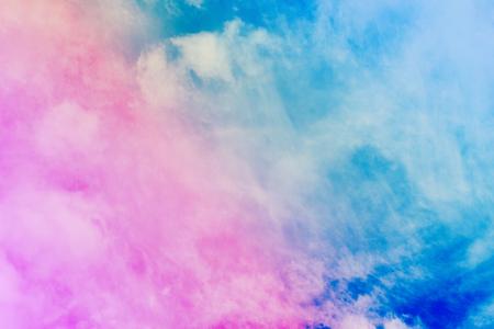 Nuvole Cielo Natura. Pastello colorato sfumato rosa, da blu ad arancione astratto sfondo ideale per qualsiasi uso. Archivio Fotografico - 90626923