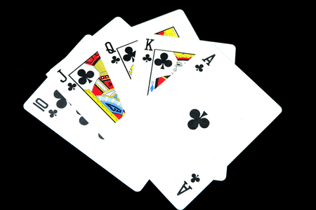 Playing Cards Game Isolated. Deck of Play Card On Black Background Great for Any Use.