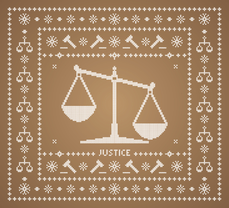 Het ornament rechtvaardigheid