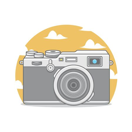 Camera with clouds and sky illustration Фото со стока - 129167661