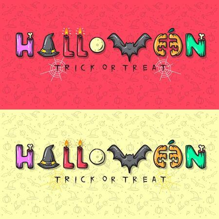 Halloween Text effect Ilustração