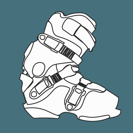 snowboard: Snowboard carving boot in lines black and white .