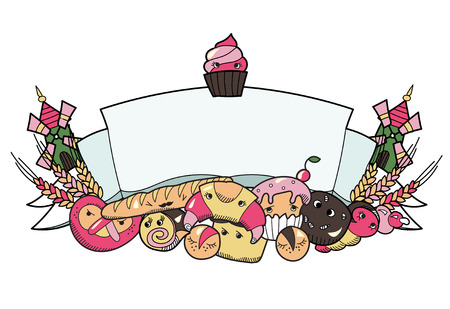 PrintBakery ribbonBakery ribbon with different kind of bread.