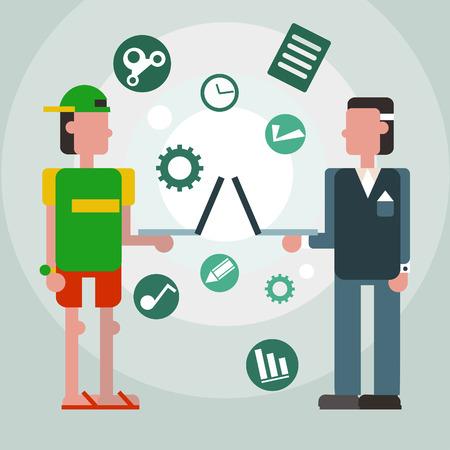 freelance: Freelance infographic. Illustration